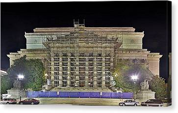 National Archives Building Renovation Canvas Print