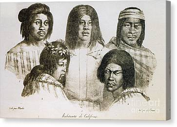 Native American Converts, California Canvas Print by Photo Researchers