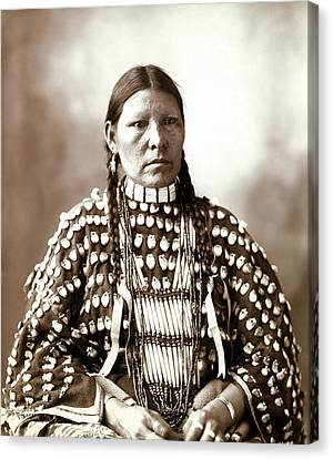 Native American Woman, Portrait Of An Canvas Print by Everett