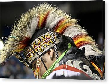 Canvas Print featuring the photograph Native Canadian-head Dress by Nick Mares