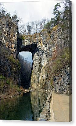 Natural Bridge Virginia Canvas Print by Alan Raasch