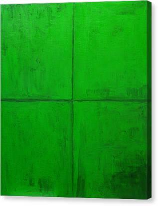 Natural Green Coordinate System Canvas Print by Kazuya Akimoto