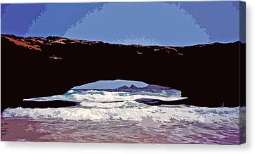 Natural Stone Bridge - Aruba Canvas Print by Juergen Weiss