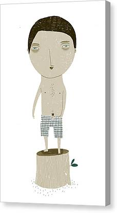 Full-length Portrait Canvas Print - Natural Stripper by Luciano Lozano