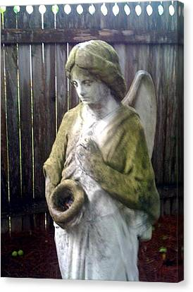 Nature Angel Canvas Print by Rebecca Poole