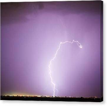 The Lightning Man Canvas Print - Nature Showing Face by James BO  Insogna