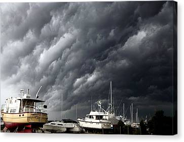 Nature's Fury Canvas Print by Karen Wiles