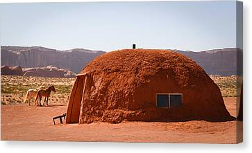 Navajo Home Canvas Print by Diane Bohna
