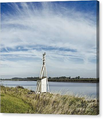 Navigation Beacon, East Yorkshire, England Canvas Print by Jon Boyes