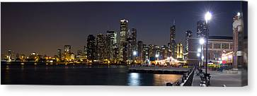 Sky Line Canvas Print - Navy Pier And Downtown Skyline by Twenty Two North Photography