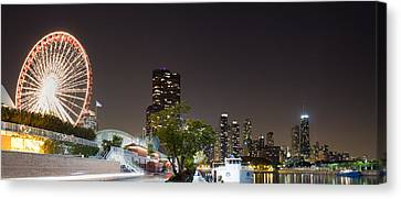 Sky Line Canvas Print - Navy Pier Chicago Illinois by Twenty Two North Photography