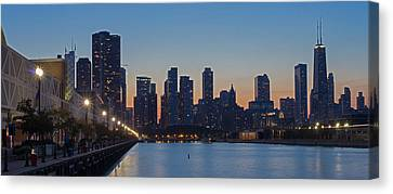 Sky Line Canvas Print - Navy Pier In Evening by Twenty Two North Photography