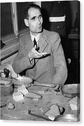 Nazi War Criminal Rudolph Hess Eating Canvas Print by Everett