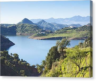 Near Almogia, Spain. Casasola Reservoir. Canvas Print by Ken Welsh