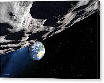 Near-earth Asteroid Apophis, Artwork Canvas Print by Detlev Van Ravenswaay