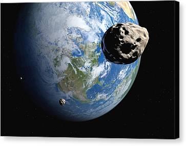 Near-earth Asteroids, Artwork Canvas Print by Detlev Van Ravenswaay
