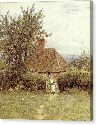 Near Haslemere Canvas Print by Helen Allingham