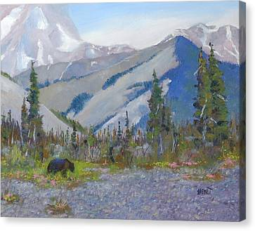 Near Muncho Lake British Columbia Canvas Print