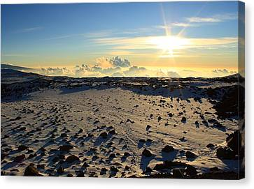 Canvas Print featuring the photograph Nearing Mauna Kea Summit by Scott Rackers