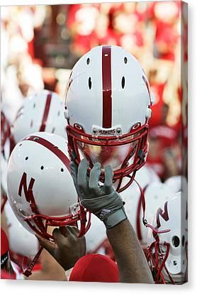 Nebraska Football Helmets  Canvas Print by University of Nebraska