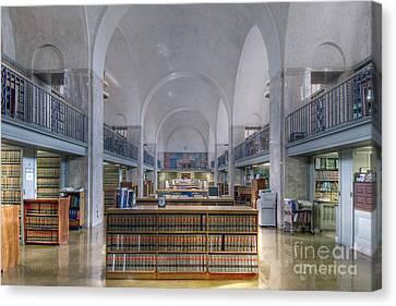 Nebraska State Capitol Library Canvas Print by Art Whitton