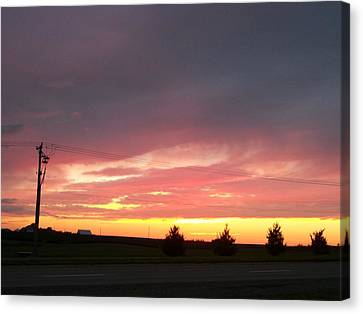 Nebraska Sunset Canvas Print