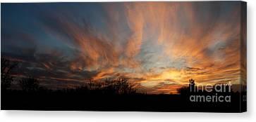 Nebraska Sunset Canvas Print by Art Whitton