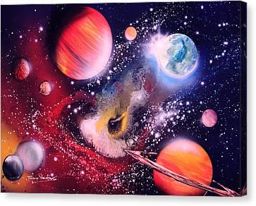 Nebula Guards Canvas Print by Tony Vegas