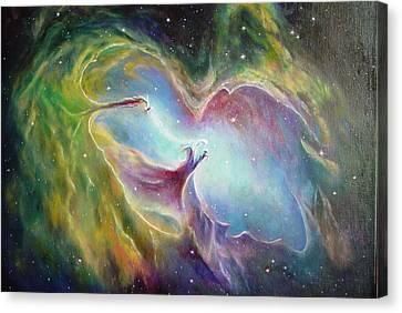 Nebula Canvas Print by Leonard Franckowiak