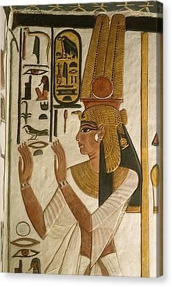 Nefertari Tomb Scenes, Valley Canvas Print by Kenneth Garrett
