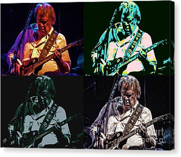 Neil Young Pop Canvas Print by Tommy Anderson