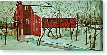 Nelsonville Mill Canvas Print by Carolyn Rosenberger