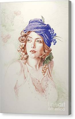 Neoclassical Drawing Canvas Print
