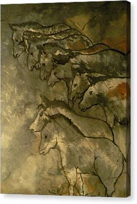 Neolithic Horses Canvas Print by John Connaughton
