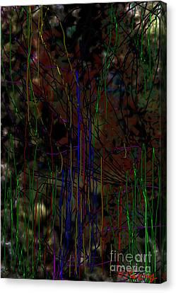 Neon Jungle Canvas Print