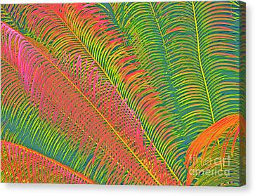 Neon Palm Abstract Canvas Print