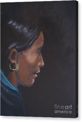 Canvas Print featuring the painting Nepal by Annemeet Hasidi- van der Leij