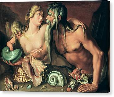 Neptune And Amphitrite Canvas Print