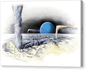 Neptune From Triton, Artwork Canvas Print by Gary Hincks