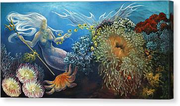 Neptune's Daughter Canvas Print by Ann Beeching