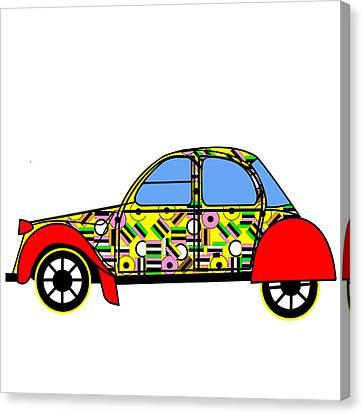 Nerds Car - Virtual Cars Canvas Print by Asbjorn Lonvig