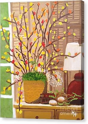 Nesting Canvas Print by Margaret Harmon