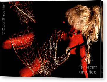 Canvas Print featuring the photograph Netted A Red by Clayton Bruster