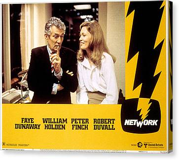 Network, Peter Finch, Faye Dunaway, 1976 Canvas Print by Everett
