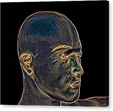 Human Head Canvas Print - Networld by Betsy Knapp