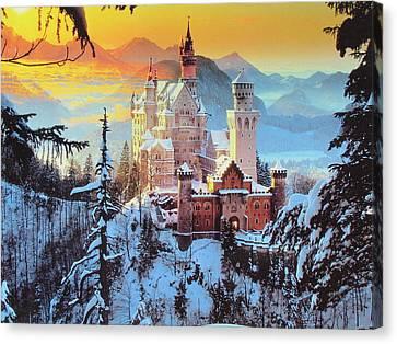 Neuswanstein Winter Canvas Print