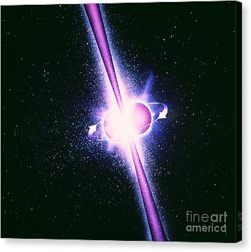 Neutron Stars And Gamma-ray Bursts Canvas Print by NASA / Science Source