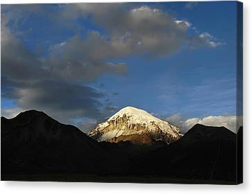 Nevado Sajama At Sunset. Republic Of Bolivia.  Canvas Print by Eric Bauer
