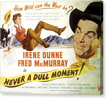 Never A Dull Moment, Irene Dunne, Fred Canvas Print