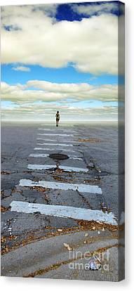 Never Ending Crosswalk Canvas Print by Jill Battaglia
